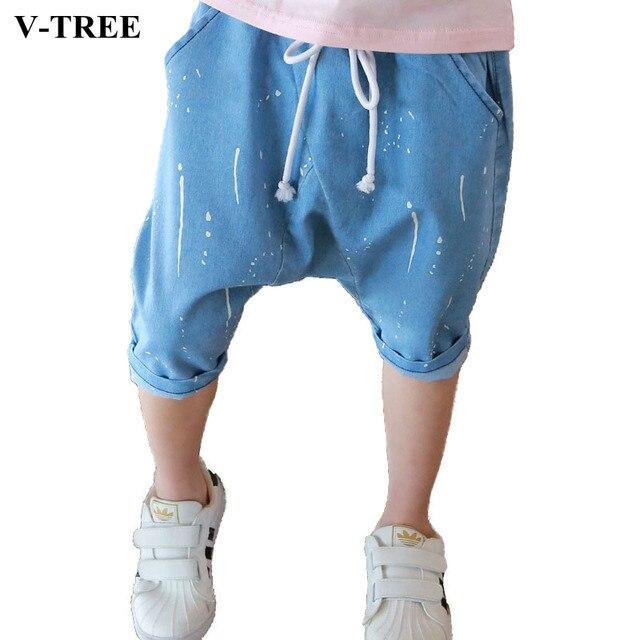 V-TREE детские Шаровары Для Мальчиков Летом Мальчики Джинсы Детская Одежда детские Джинсы Для 2-10 Лет Мальчики