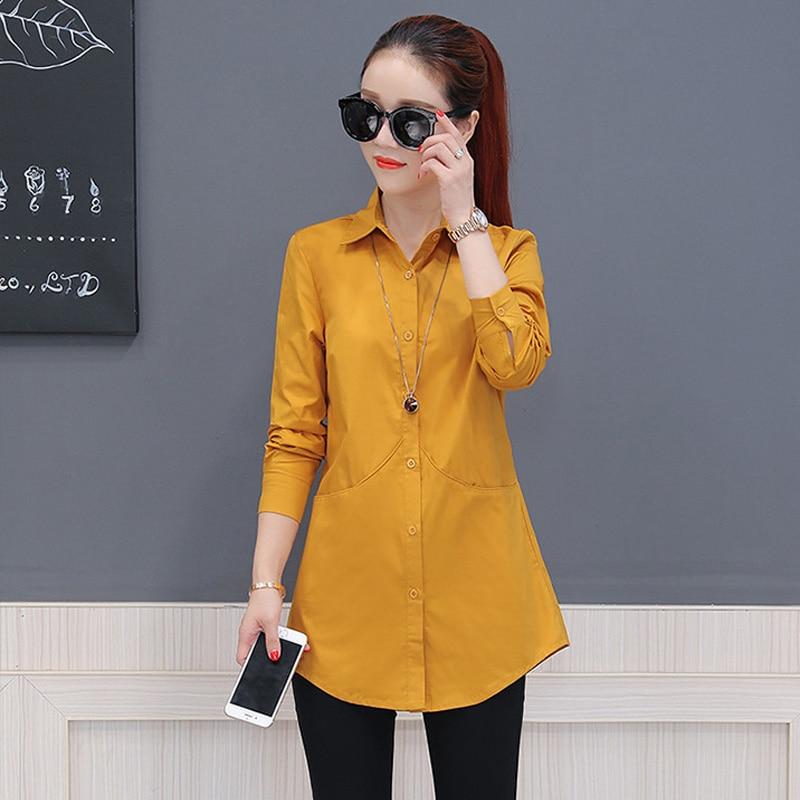 Korea Style Women   Blouse     Shirts   2019 Elegant Women cardigan Tops Plus Size Solid casual   shirt     blouses   feminina   shirt   tops