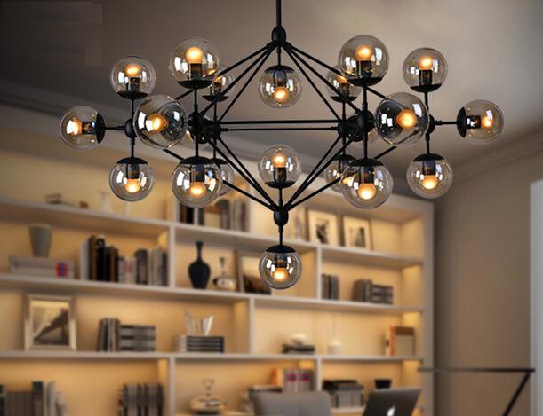 Us 175 0 Creative Gl Jason Miller Magic 5 10 15 21 Head Dining Room Decoration Led Modo Living Dna Drop Pendant Lights In
