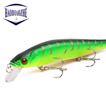 Купить с кэшбэком 1Pcs Minnow Fishing Lure Hard Bait with 3 Fishing Hooks Fishing Tackle Lures 3D Eyes Crankbait Wobblers Iscas Artificial Pesca