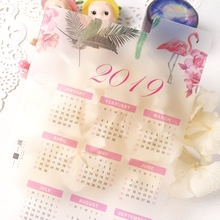 2019 Index Calendar Board Isolated PVC Page For Spiral Diary 1 Sheet A5 A6 casio ae 1000w 1b page 5 page 1 page 1 page 3