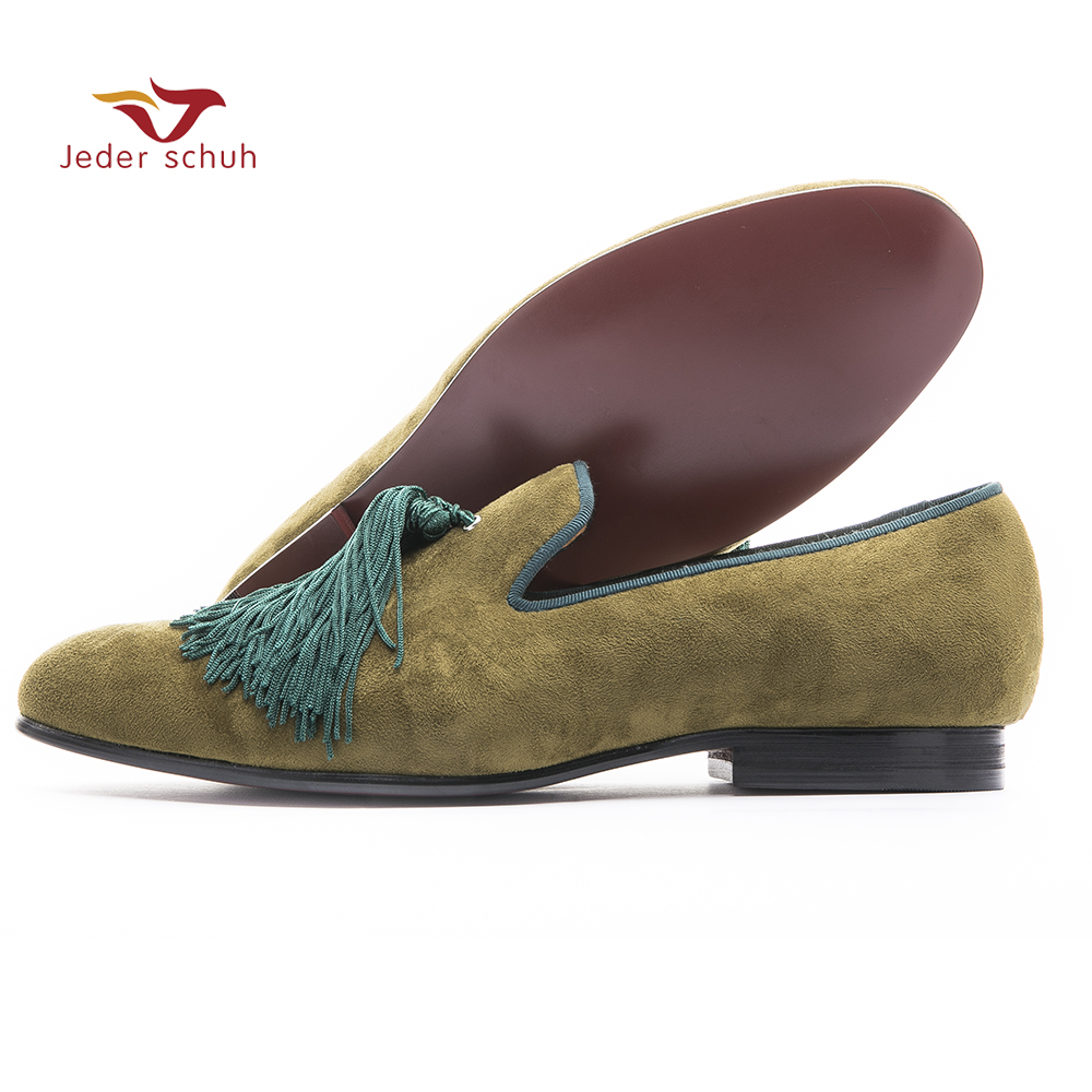 Men loafers Handmade shoes and exquisite sandals men fringe party simple style velvet Slipper