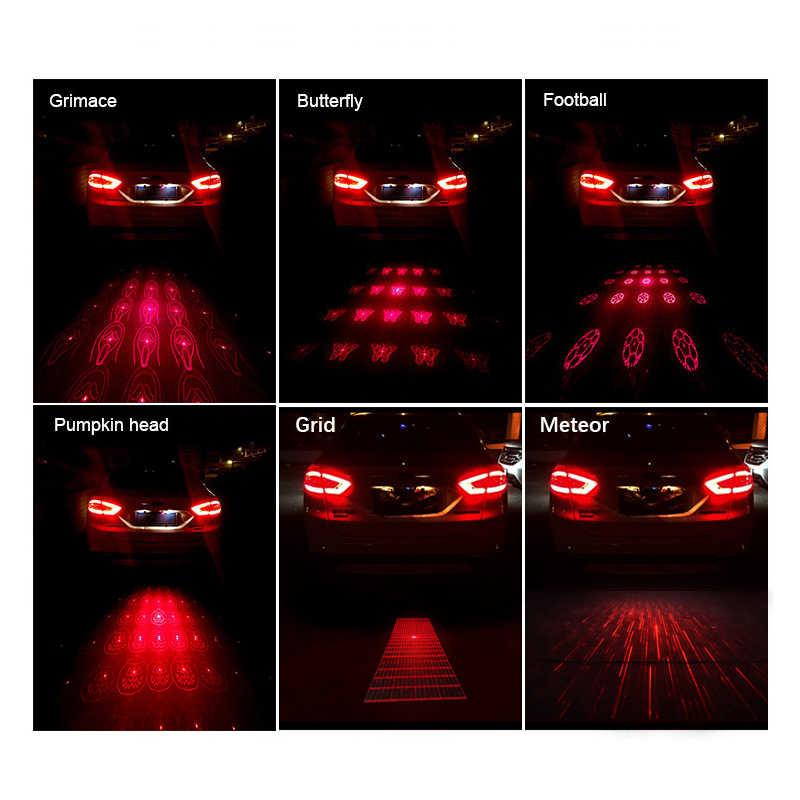 Бегемкрон проекционный лазерный задний фонарь Анти-туман Анти-столкновения заднего конца автомобиля Led Водонепроницаемая Автомобильная противотуманная лампа сигнальные фонарики 12 В