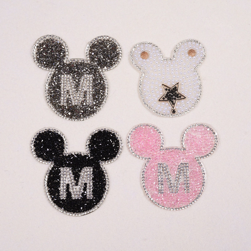 Detail Feedback Questions about 1pcs Sparkling Rhinestone Cartoon animal  Pattern Clothes Patches Fashion Sequined DIY Appliques Bling Iron on Patches  on ... 0d5d2a655b48