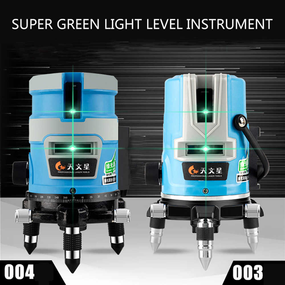 5 lines 3D Green Niveau Laser Level Detector Nivel 2/3line Lasers 360 Autonivelante Instrument Lazer Meter For Construction Tool