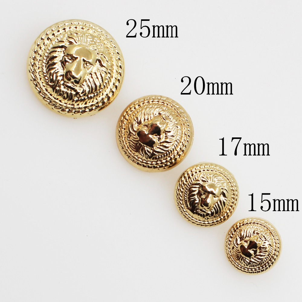 Apparel Sewing & Fabric 50pcs Relief Double Lion Metal Buttons Sewing Jean Metal Buttons For Ladies Sweater Fashion Coat Buttons For Jeans