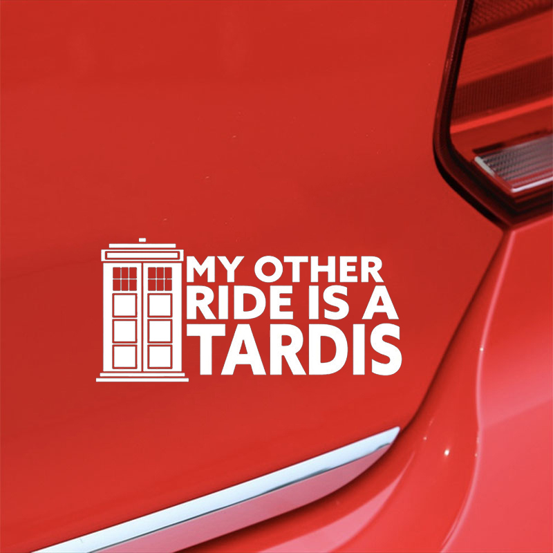 Image 5 - My Other Ride Is A Tardis Vinyl Decal Sticker Doctor Who Car Window Sticker Car Accessories Motorcycle Helmet Car Styling-in Car Stickers from Automobiles & Motorcycles