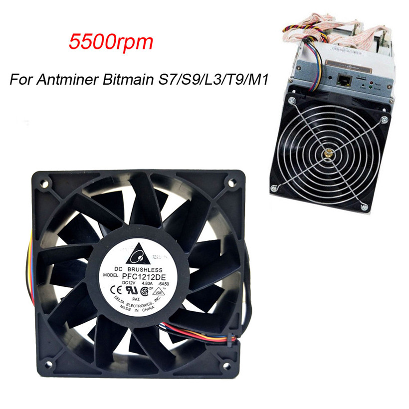 CARPRIE 5500RPM Cooling Fan Replacement 4-pin Connector For Antminer Bitmain S7/S9/L3/T9/M1 180329 drop shipping new 5500rpm cooling fan replacement 4 pin connector for antminer bitmain s7 s9 high quality computer cooler cooling fan for cpu