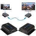 LKV372A 1080 P HDMI Extender TX/RX 60 М Сигнала CAT6 Сетевой Кабель с ИК-Передатчик + Приемник с для CCTV Поле HDTV DVD