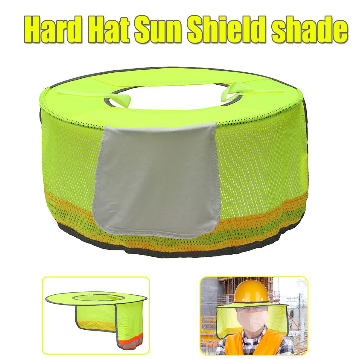 bf568b5d80c Detail Feedback Questions about Hard Hat Sun Shield Shade Full Brim Sun  Shield Shade Head Neck Nape Breathable Mesh For Hard Hat Helmet on  Aliexpress.com ...