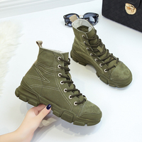 Women Ankle Boots Military White High Tops Canvas Sneakers Lightweight Lace up Tactical Shoes Army Desert Women Combat Boots