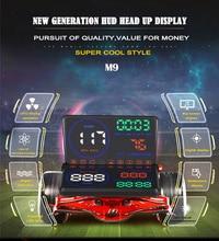 Portable Car HUD Head Up Display KM/h & MPH Speeding Voltage Warning Windshield Projector System Mini OBD Interface Plug & Play