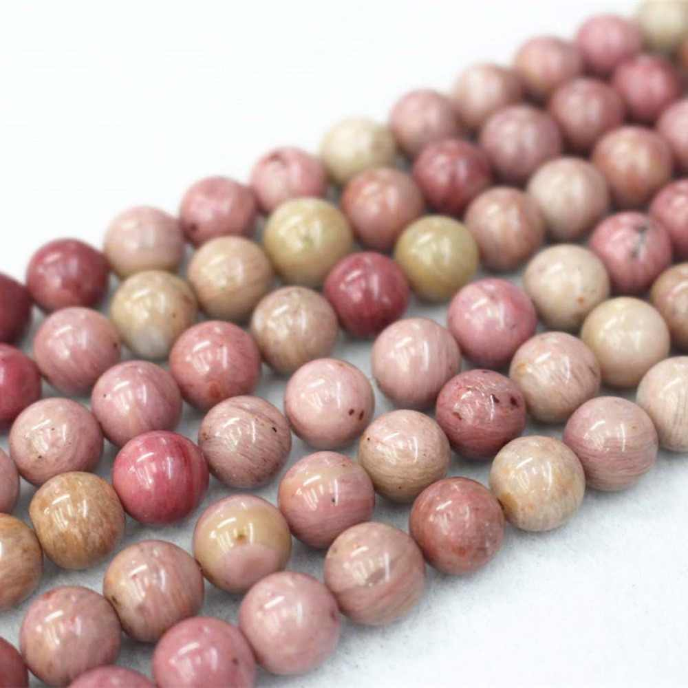 Natural Pink Rhodonite Beads,4mm 6mm 8mm 10mm 12mm Rhodonite Smooth And Round Beads.DIY Jewelry Making