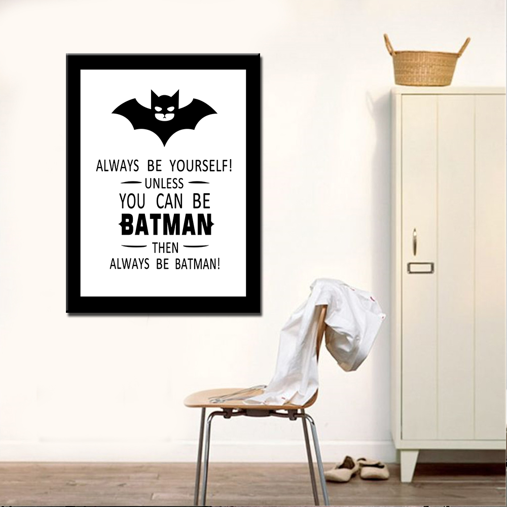 Drop Shipping Oil Painting Canvas Prints Modern Batman Wall Art Picture For  Living Room Home Decor No Frame