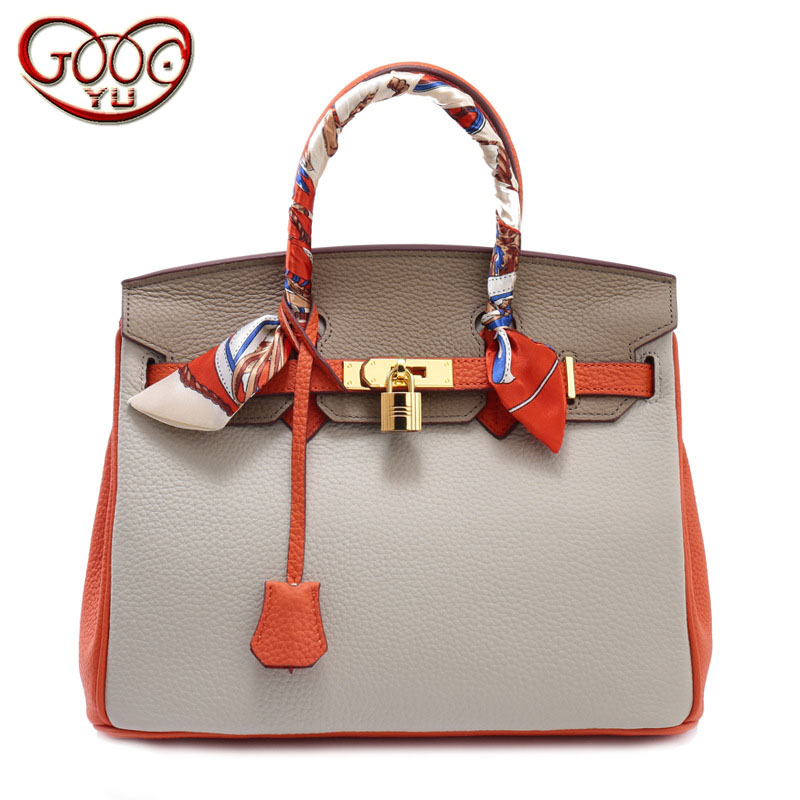 New genuine leather cross section square handbags first layer of leather litchi Platinum handbag fashion trend diagonal cross sh qiaobao women general genuine leather handbags tide europe fashion first layer of cowhide women bag hand diagonal cross package