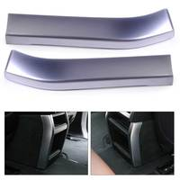 Beler Silver 1Pair Chrome Plated Armrest Box Rear Air Vent Frame Trim Cover Car Styling Decoration