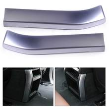 beler Silver 1Pair Chrome Plated Armrest Box Rear Air Vent Frame Trim Cover Car Styling Decoration fit for BMW X5 2014 2015 2016