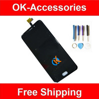 1PC Lot For UMI Plus Plus E LCD Display Touch Screen Digitizer Assembly With Tools Black