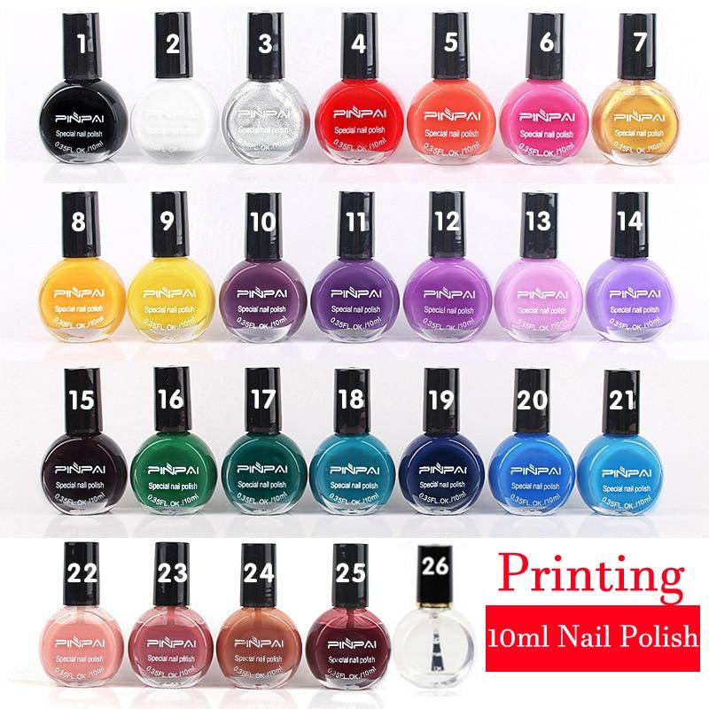 26 цветная Печать лак для ногтей масло 10 мл ногтей штамповки польский печать печать посвященный подлинным Стикер искусства Ногтя AS77