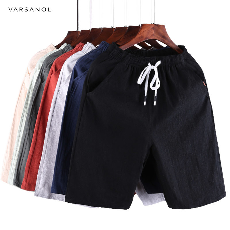 Varsanol Casual Shorts Men Clothes 2018 Summer Casual Men's Shorts Homme Cotton Bermuda Short Trousers Brand Clothing Puls Size