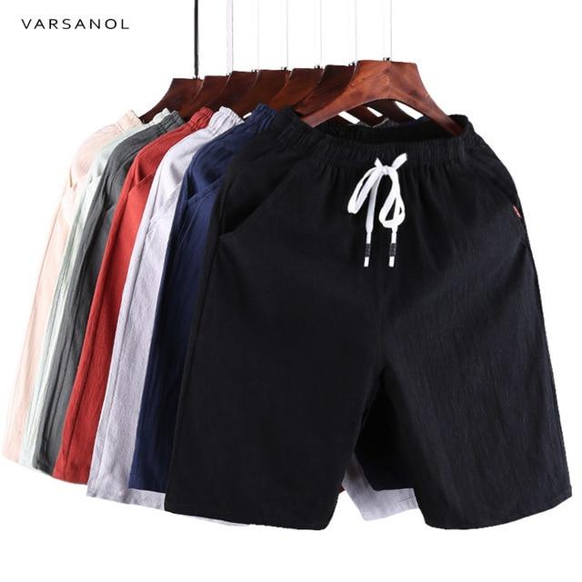 Varsanol Casual Shorts Men Clothes 2018 Summer Casual Men's Shorts Homme Cotton Bermuda Short Trousers Brand Clothing Puls Size