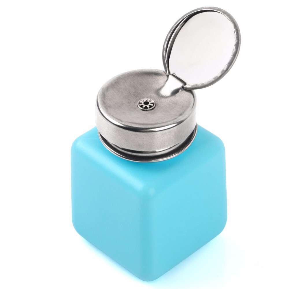 120ML Empty Liquid Alcohol Press Bottle Glue Residue Remover Clean Tool Portable Dispenser Pump Bottle