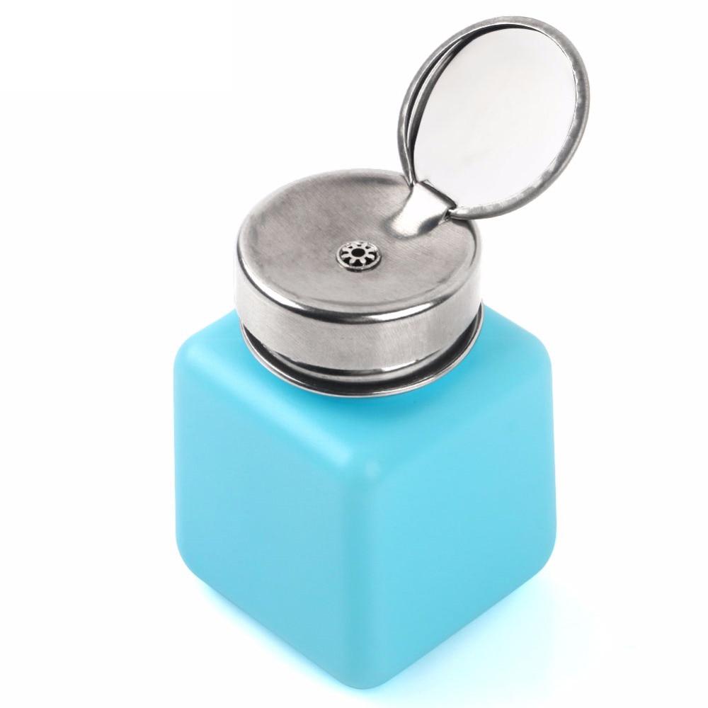 120ML Empty Liquid Alcohol Press Bottle Glue Residue Remover Clean Tool Portable Dispenser Pump Bottle