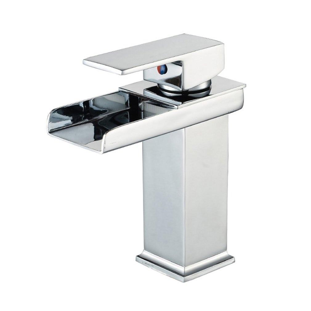 Bathroom Waterfall Led Faucet. Glass Waterfall Brass Basin Faucet. Bathroom Mixer Tap Deck Mounted Basin Sink Mixer TapBathroom Waterfall Led Faucet. Glass Waterfall Brass Basin Faucet. Bathroom Mixer Tap Deck Mounted Basin Sink Mixer Tap