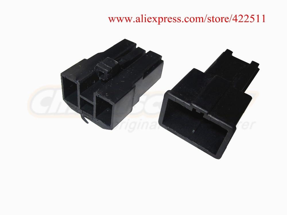 2 اتصالات اسکوتر مشکی ABS سیاه و وصل و ترمینال پلاگین / برق سیم برای باتری یا موتور اسکوتر (قطعات یدکی اسکوتر)
