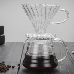 Isıya dayanıklı cam kahve damlatıcı Pot kahve su ısıtıcısı kolları ile bira cezve Barista üzerine dökün cam filtre damla huni