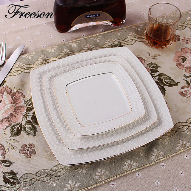 Europe Concise Emboss Snowflake Cake Dishes And Plates Pastry Fruit Porcelain Dish Steak Ceramic Tray Tableware & Europe Concise Emboss Snowflake Cake Dishes And Plates Pastry Fruit ...