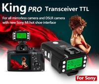 PIXEL KING PRO Flash Trigger For Sony A7 A7R A7RII A6300 A65 A77II RX10III MI Shoe Camera TTL HSS 1/8000S LCD Flash Transmitter