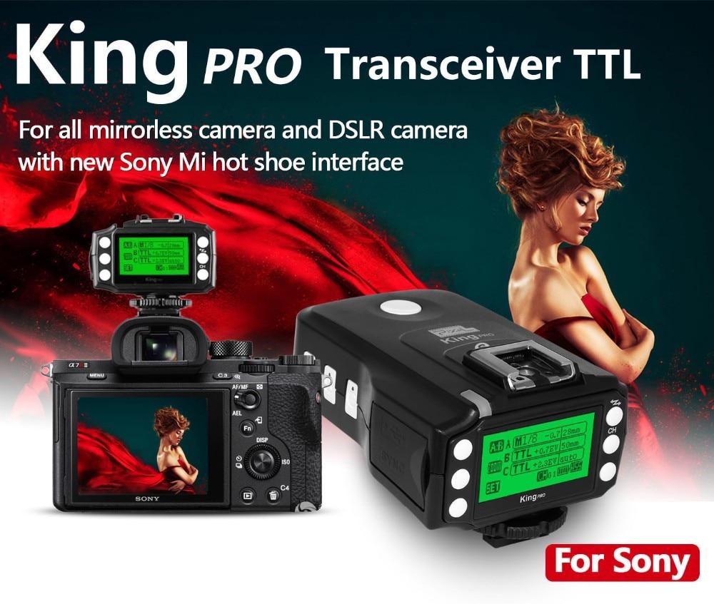 Pixel king pro flash trigger per sony a7 a7r a7rii a6300 a65 a77ii rx10iii mi shoe fotocamera ttl hss 1/8000 s lcd flash trasmettitorePixel king pro flash trigger per sony a7 a7r a7rii a6300 a65 a77ii rx10iii mi shoe fotocamera ttl hss 1/8000 s lcd flash trasmettitore