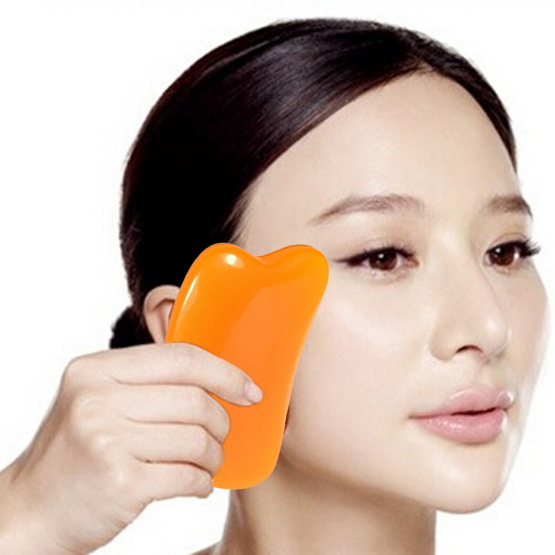 5pcs Natural Jade Stone Gua Sha Body And Face Guasha Board Massage Scraping Therapy Tool Body Face Waist Thin Scrapping Clips