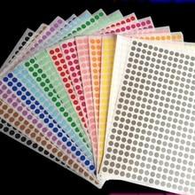 Наклейка в горошек, 12 листов, 6 мм, 8 мм, 10 мм, 13 мм, 16 мм, 19 мм, 25 мм, 32 мм, самоклеющаяся этикетка в горошек, для офиса, школы, поставщик, разные цвета
