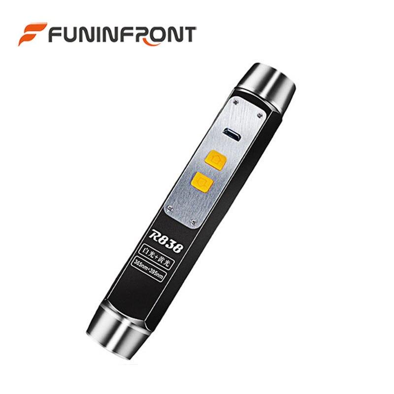 USB aufladbare 365nm UV-LED-Taschenlampe Expert Jade Gem Appraisal LED Light 4 Lichtquelle mit einer Taschenlampe