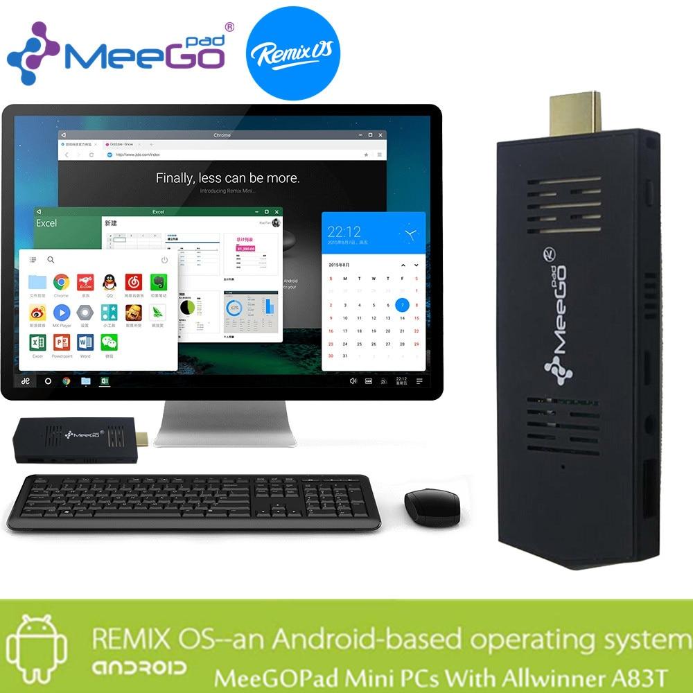 MeeGOPad A02 2 GB RAM Remix 2.0 Android 5.1 Mini PC, 32 GB Allwinner A83T Octa n
