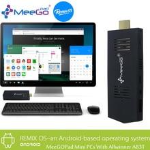 MeeGOPad A02 2GB RAM Remix 2.0 Android 5.1 Mini PC,32GB Octa-core Allwinner A83T WIFI Bluetooth HDMI TV BOX Compute Stick