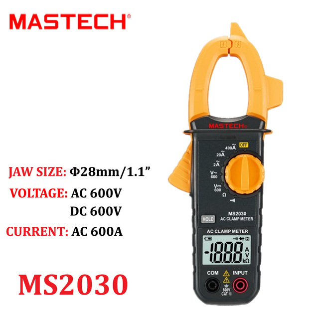 Mastech Ms2030 Digital Ac Clamp Meter 400a Multimeter With Acdc
