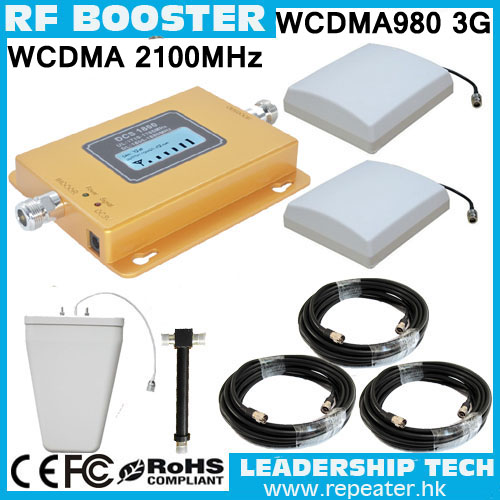 LCD UMTS980 RF UMTS TD-SCDMA HSDPA 3G 2100mhz Cellular Mobile/cell Phone Signal Repeater Booster Amplifier Detector LPDA Antenna