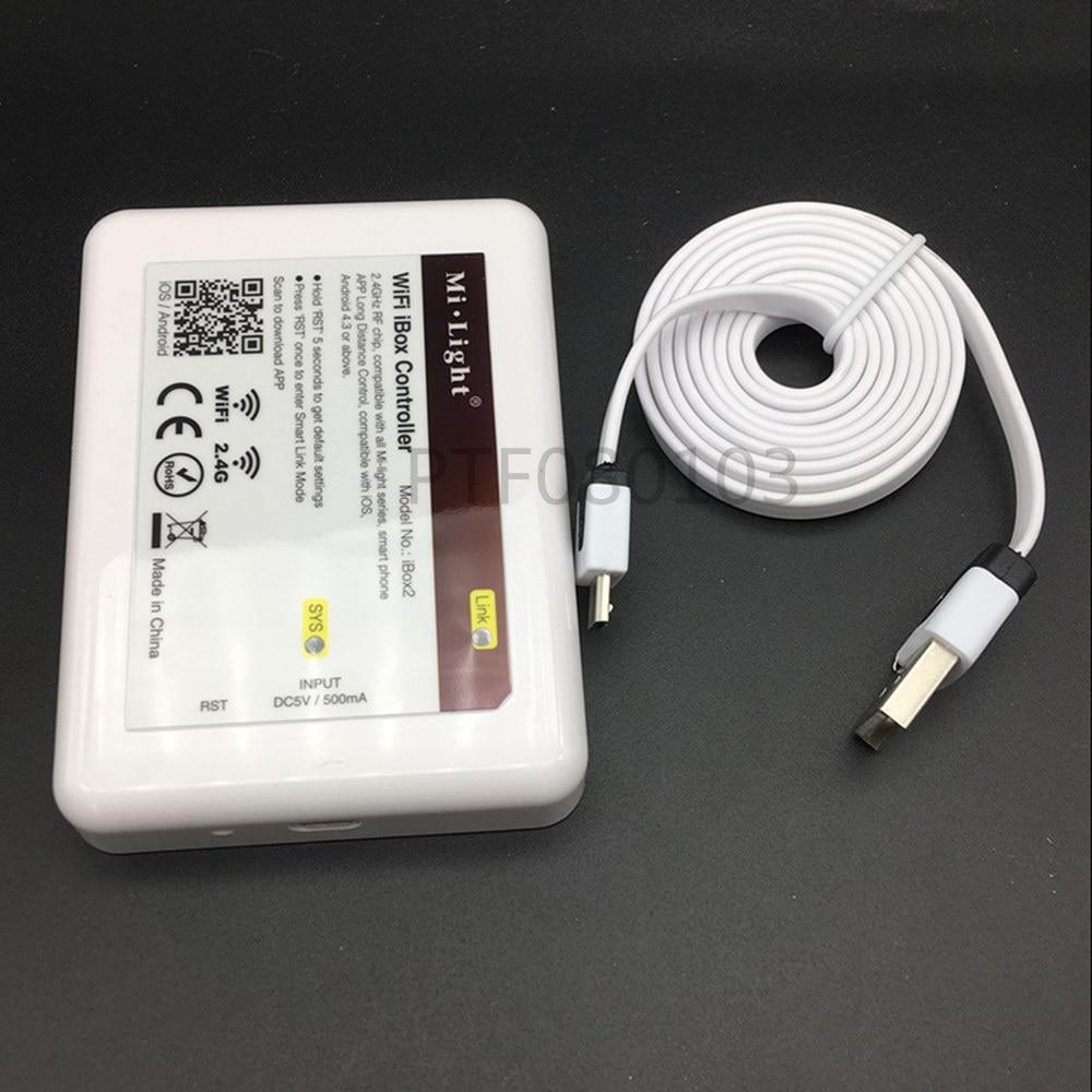 New DC5V Wifi IBox2 Mi.light Wireless Controller Compatible With IOS/Andriod System Wireless APP Control For CW WW RGB Bulb