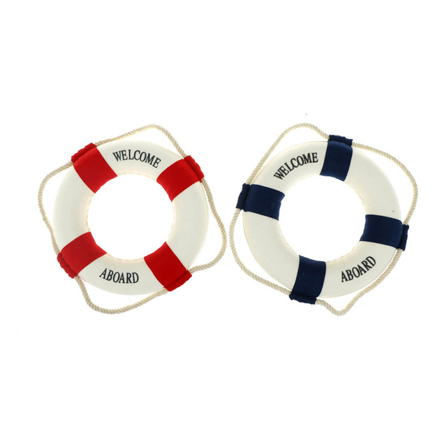 Welcome Aboard Nautical Life Lifebuoy Ring Boat Wall Hanging Home Decoration Mediterranean Style 5
