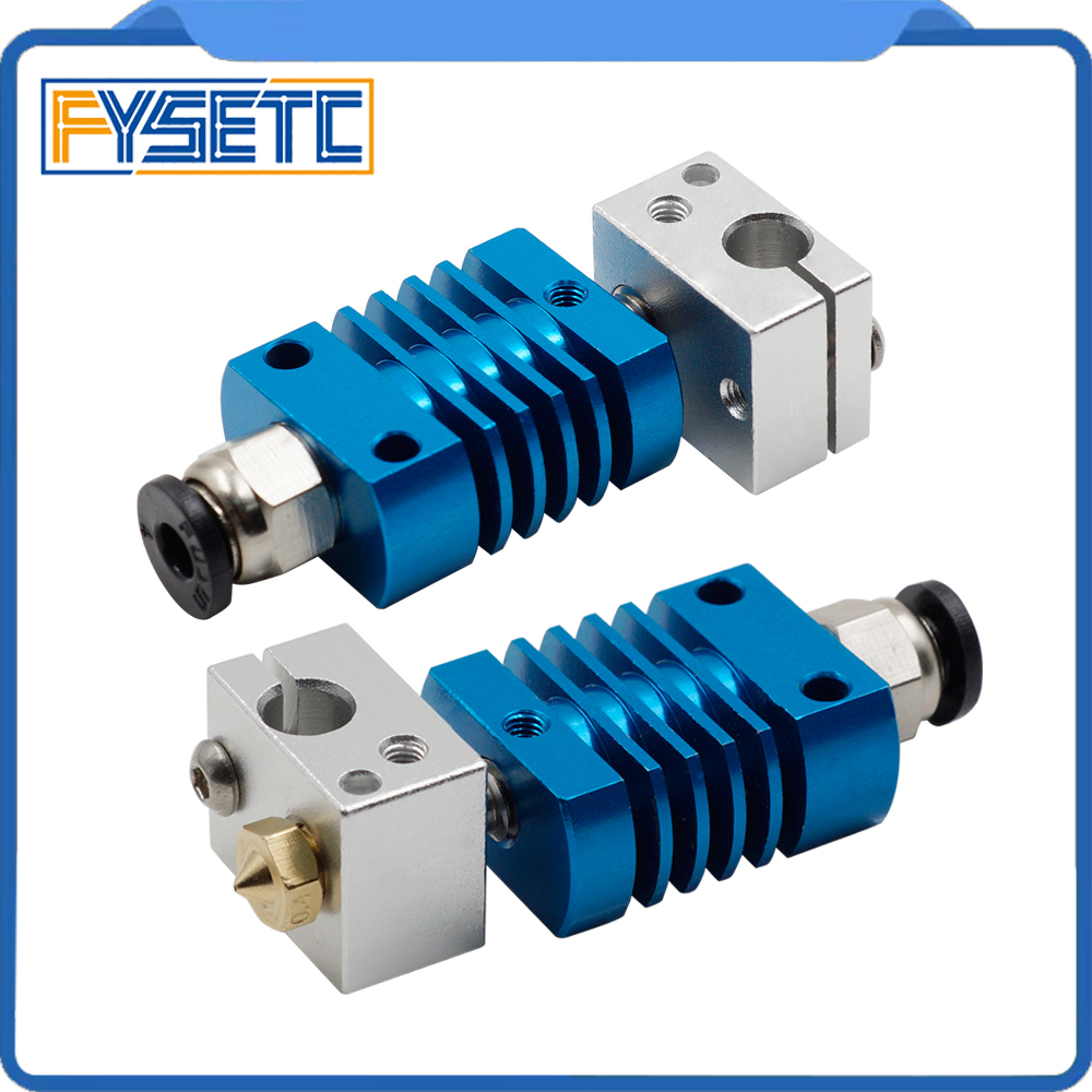 1set J-head Hotend Bowden Extrusion Head Kit Blue Assembled Extruder Kit For CREALITY CR-8/CR-10 3D Printer 1.75mm Nozzle 0.4mm