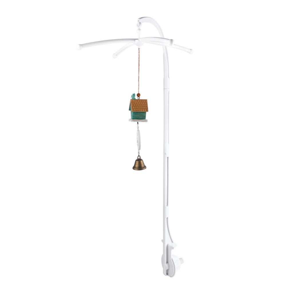 Baby bed holder - High Quality White 5pcs Set Baby Crib Mobile Bed Bell Toy Holder Arm Bracket Nursery Diy