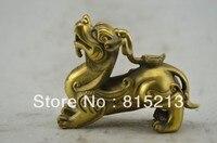 Wang 000195 Chinês velho bronze PI XIU o nono filho do dragão