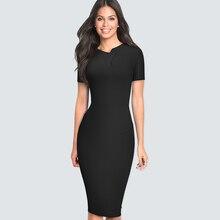 Новое весеннее летнее короткое офисное платье с v-образным вырезом и рюшами Элегантное повседневное облегающее вечернее женское платье HB496