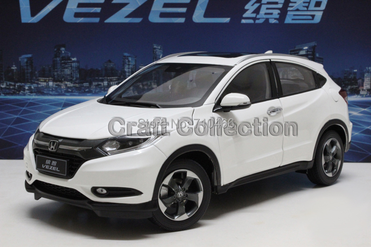White New 1:18 Honda Vezel HRV 2015 SUV Diecast Model Car World Premiere Exclusive Gifts Cross Country Car H-RV H RV 1 6 diecast model bike yamaha cross country motorcycle newray