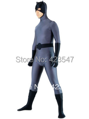 Dark Gray & Black DC Comics Catwoman Superhero Costume