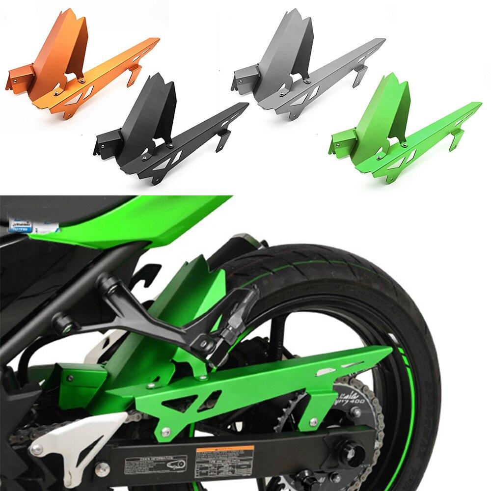 Pour Kawasaki Ninja 400 Ninja 250 2017 2018 moto CNC garde-boue arrière garde-boue chaîne couvercle pour Kawasaki Ninja400 Ninja250