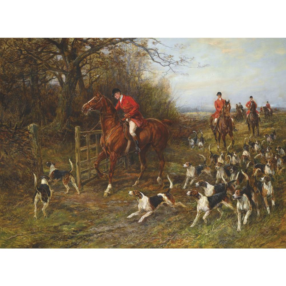wall art Paintings by Heywood Hardy Hunter and dogs landscapes hand painted artwork oil on Canvas
